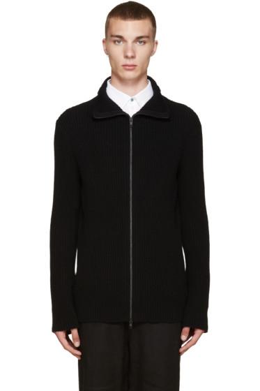Ann Demeulemeester - Black Zip-Up Sweater