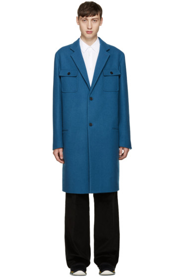 Marni - Blue Wool Coat