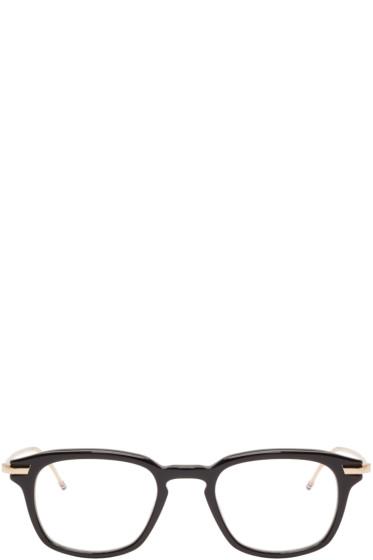 Thom Browne - Black & Gold Acetate Glasses