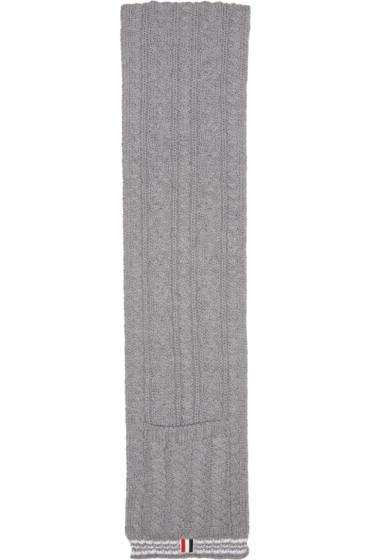 Thom Browne - Grey Funmix Pocket Scarf