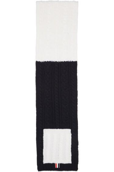 Thom Browne - Tricolor Funmix Pocket Scarf