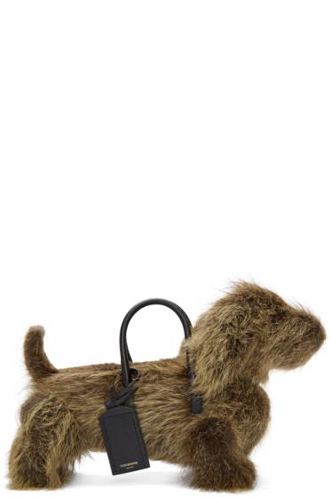 Thom Browne - Brown Fur Hector Bag