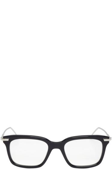 Thom Browne - Navy & Silver TB-701 Glasses