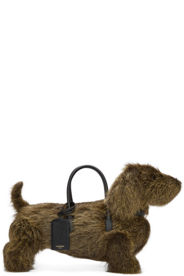Thom Browne - Brown Fur Hector Tote