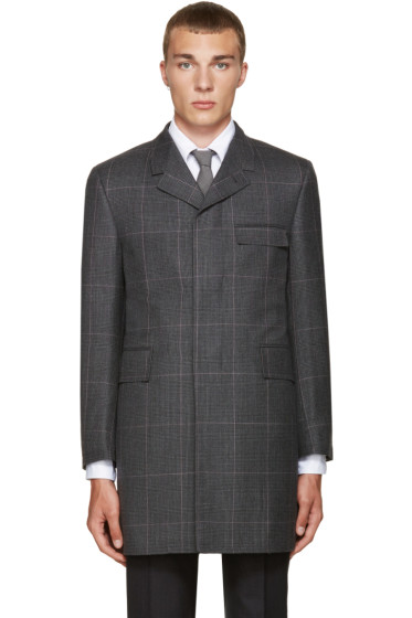 Thom Browne - Grey Classic Chesterfield Coat
