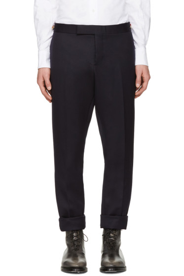 Thom Browne - Navy Twill Trousers