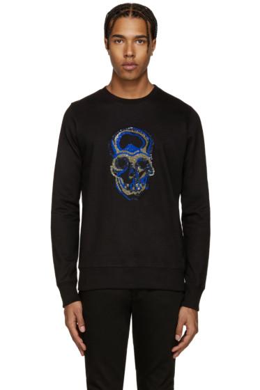 Markus Lupfer - Black Sequin Skull Sweatshirt