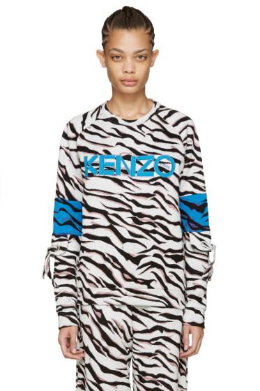 Kenzo - White Tiger Stripe Logo Pullover