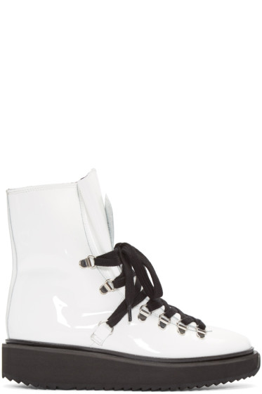 Kenzo - White Patent Ankle Boots