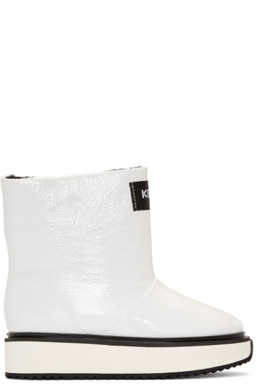 Kenzo - White Shearling Moon Boots