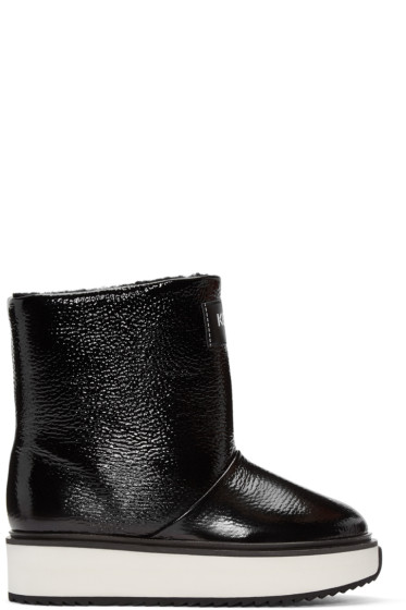 Kenzo - Black Shearling Ankle Boots