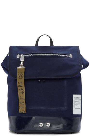 Kenzo - Blue Pull-Tab Backpack
