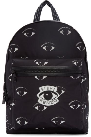 Kenzo - Black Nylon Eye Backpack
