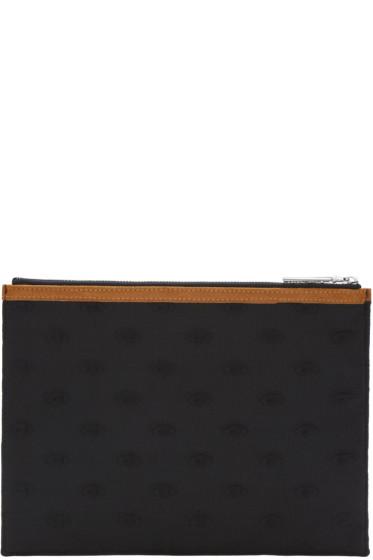 Kenzo - Black Embossed Zip Pouch