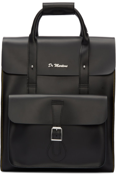 Dr. Martens - Black Leather Backpack