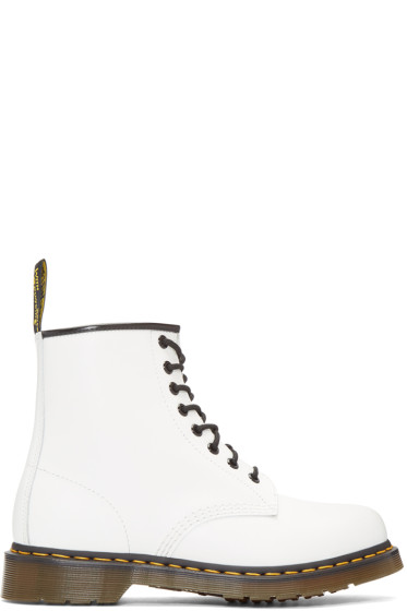 Dr. Martens - White Eight-Eye 1460 Boots