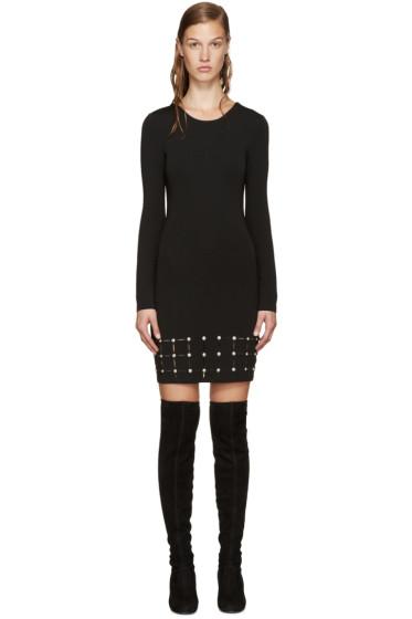 Versus - Black Laser-Cut Dress