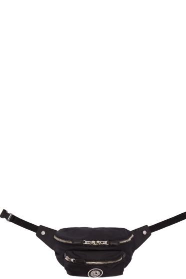 Versus - Black Nylon Logo Hip Pouch