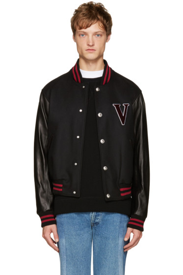 Versus - Black 'V' Baseball Bomber Jacket
