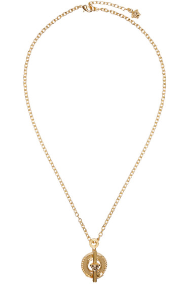Versace - Gold Ring Pendant Necklace