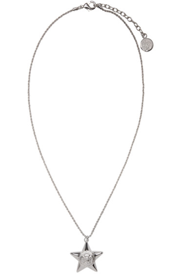 Versace - Silver Star Medallion Necklace