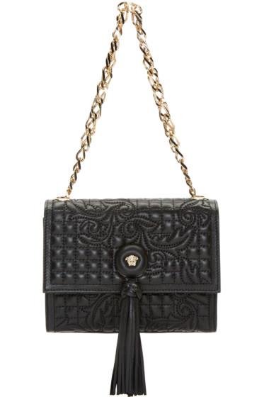 Versace - Black Quilted Vanitas Shoulder Bag