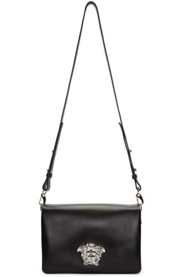 Versace - Black Medusa Foldover Shoulder Bag