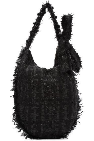 Simone Rocha - Black Tweed Tote