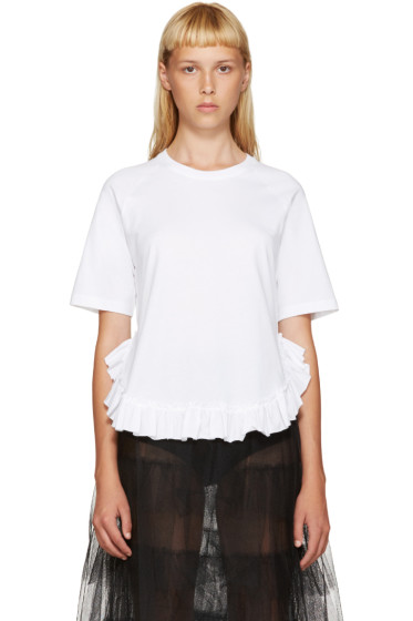 Simone Rocha - White Ruffled T-Shirt