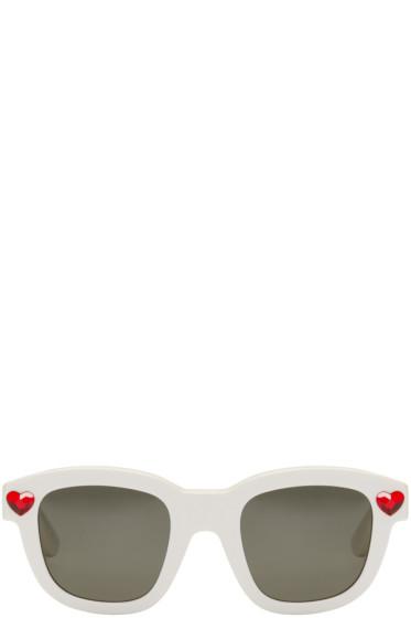 Saint Laurent - Ivory New Wave Lolita Sunglasses