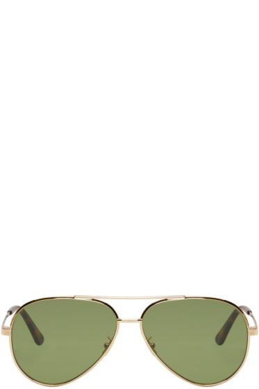 Saint Laurent - Gold Classic 11 Zero Sunglasses