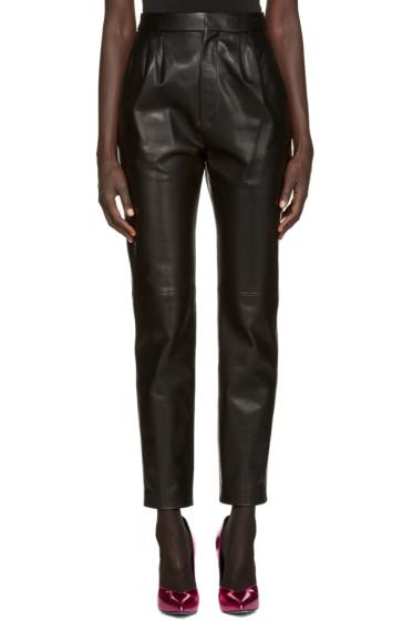 Saint Laurent - Black Lambskin Trousers