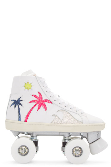 Saint Laurent - Off-White Court Classic Roller High-Top Sneakers