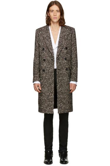 Saint Laurent - Tricolor Double-Breasted Wool Coat