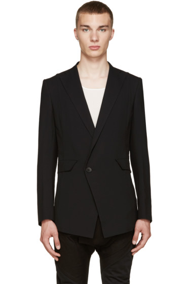 Julius - Black Double-Breasted Blazer