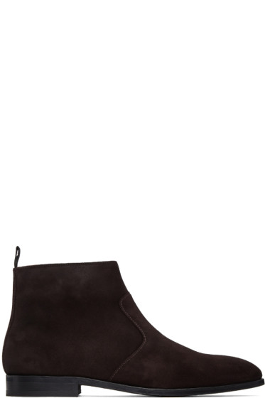 PS by Paul Smith - Brown Suede Mulder Boots