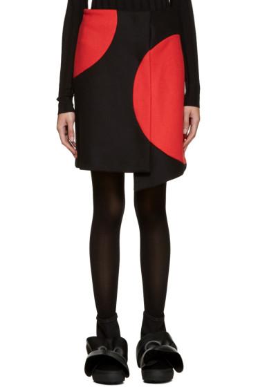MSGM - Black & Red Wrap Skirt
