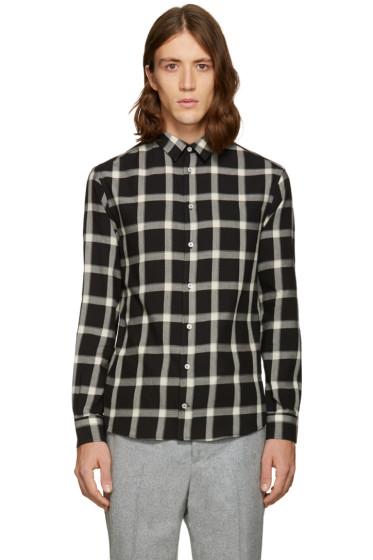 MSGM - Black Plaid Shirt
