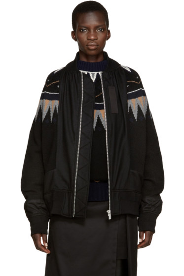 Sacai - Black Knit Ski Jacket