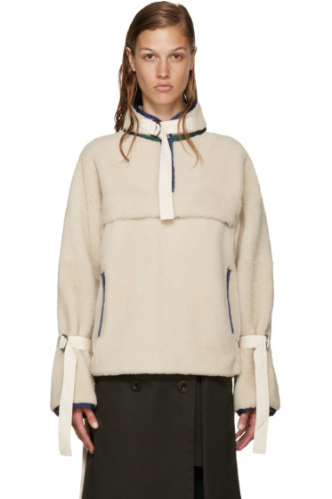 Sacai - Ivory Shearling Pullover