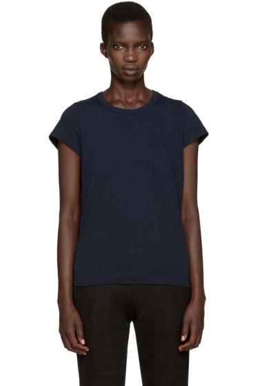 Sacai - Navy Babydoll T-Shirt
