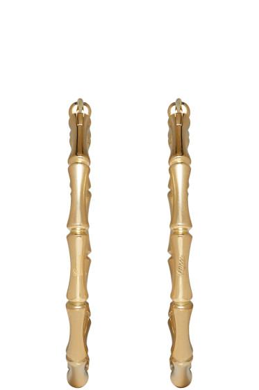 Gucci - Gold Bamboo Hoop Earrings