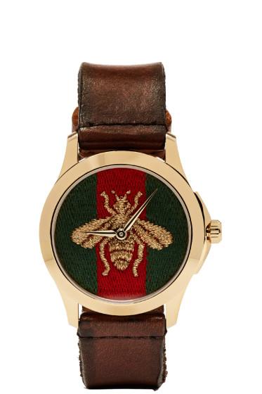 Gucci - Gold Medium G-Timeless Bee Watch