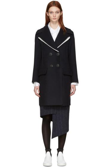 Cédric Charlier - Navy Wool Sailor Coat