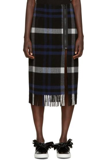 Cédric Charlier - Blue Plaid Fleece Skirt