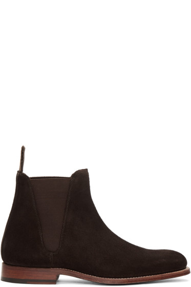 Grenson - Brown Suede Nolan Chelsea Boots