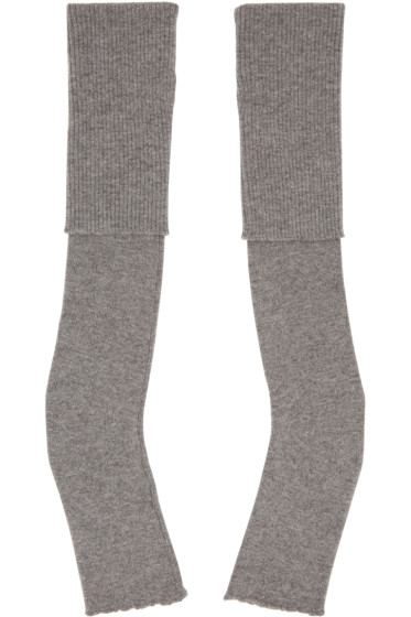 Stella McCartney - Grey Long Fingerless Gloves