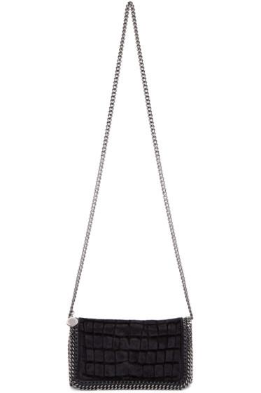 Stella McCartney - Black Velvet Falabella Cross Body Bag
