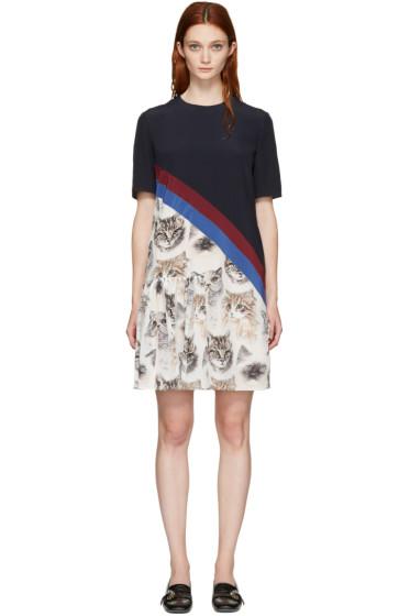 Stella McCartney - Navy Pencil Cat Dress