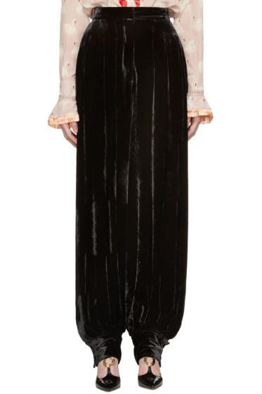 Stella McCartney - Black Velvet Fluid Trousers